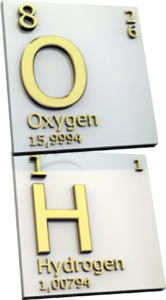 hydrogen and oxygen