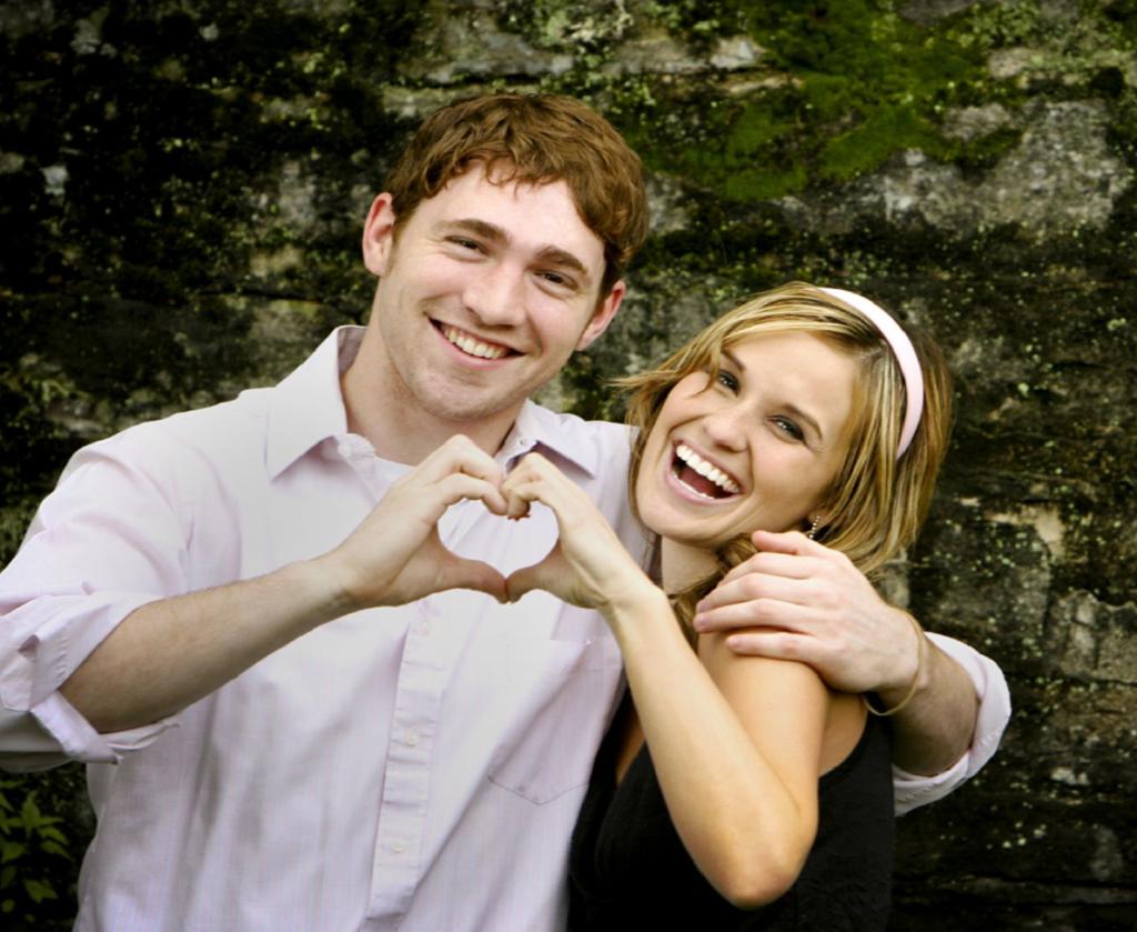 Happy couple using endorphins
